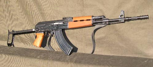 M77 underfolder with grenade launcher muzzle